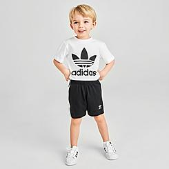 Kids' Infant and Toddler adidas Original Trefoil T-Shirt and Shorts Set