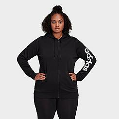 Women's adidas Essentials Full-Zip Hoodie (Plus Size)