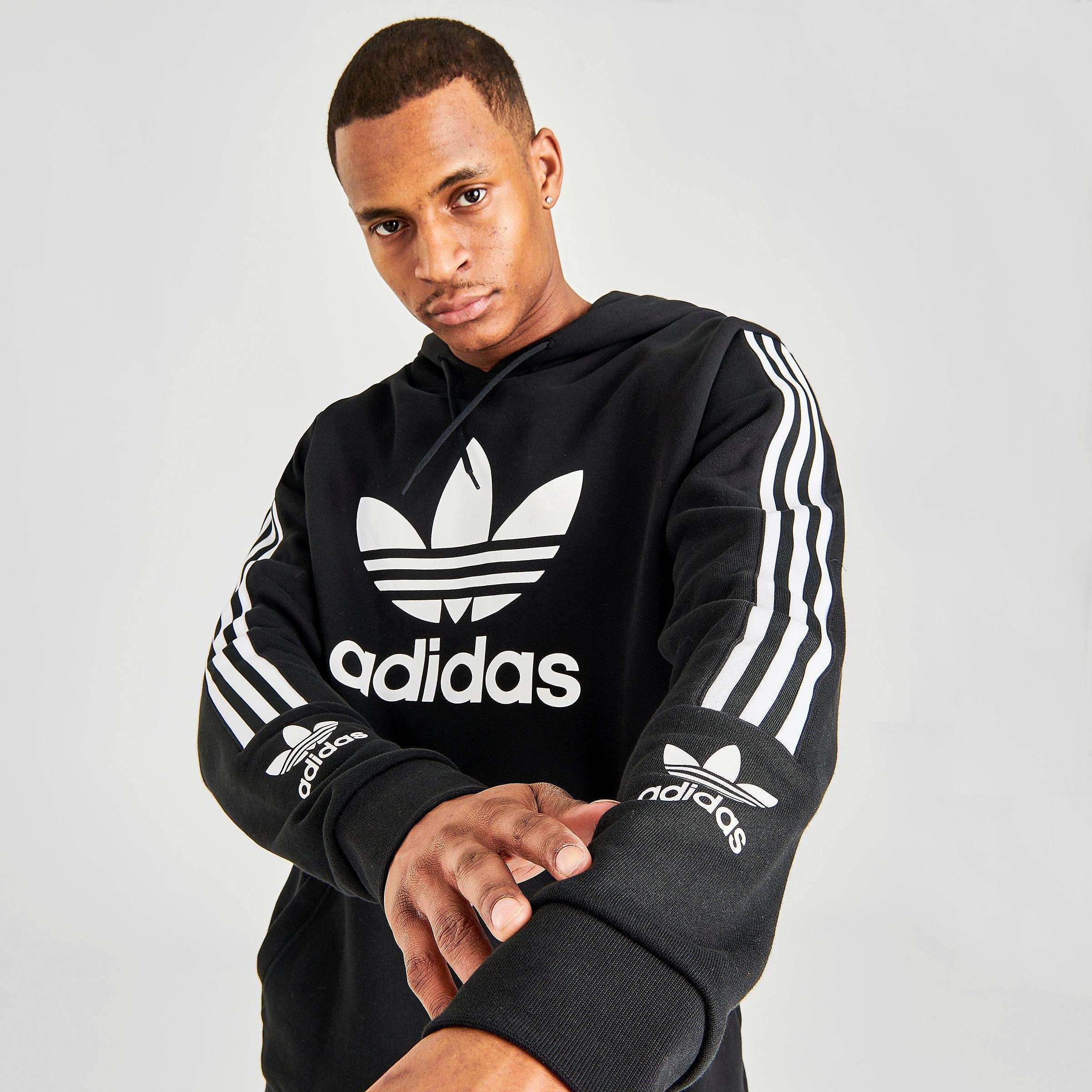 adidas ORIGINALS TREFOIL HOODIE PINK MEN'S WARM COMFY HOODED