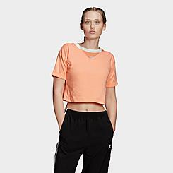 Women's adidas Originals Crop Ringer T-Shirt