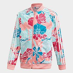 Girls' adidas Originals Allover Floral Print SST Track Jacket
