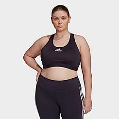 Women's adidas Don't Rest Alphaskin Padded Medium-Support Sports Bra (Plus Size)