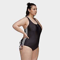 Women's adidas Classic 3-Stripes Swimsuit (Plus Size)