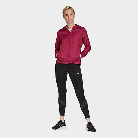 Adidas Women's Athletics Own The Run Training Tights in Black/Black Size Medium Polyester/Knit Size & Fit Slim, figure-hugging fit with built-in compression for zero distractions and muscle support Mid-rise elastic waistband is slightly higher in the back for extra coverage Product Features Stretchy Climacool fabric wicks away moisture Sweat-guard pocket 55% recycled polyester, 28% polyester, 17% elastane doubleknit Machine wash The adidas Own The Run Tights are imported. Rack up the miles in styles in the performance-ready Women's adidas Own The Run Training Tights. Size: Medium. Color: Black. Gender: female. Age Group: adult. Material: Polyester/Knit. Adidas Women's Athletics Own The Run Training Tights in Black/Black Size Medium Polyester/Knit