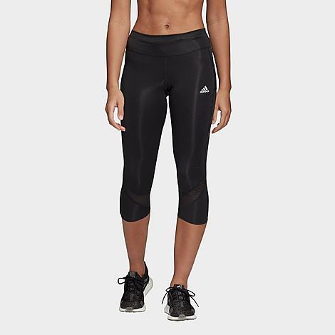 Adidas Women's Own The Run 3/4 Training Tights in Black/Black Size Small Polyester/Knit Size & Fit Slim, figure-hugging fit with built-in compression for zero distractions and muscle support Mid-rise elastic waistband is slightly higher in the back for extra coverage 3/4 length Product Features Stretchy Climacool fabric wicks away moisture Sweat-guard pocket 55% recycled polyester, 28% polyester, 17% elastane doubleknit Machine wash The adidas Own The Run Tights are imported. Rack up the miles in styles in the performance-ready Women's adidas Own The Run 3/4 Training Tights. Size: Small. Color: Black. Gender: female. Age Group: adult. Material: Polyester/Knit. Adidas Women's Own The Run 3/4 Training Tights in Black/Black Size Small Polyester/Knit