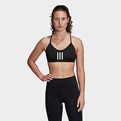 Women's adidas All Me 3-Stripes Mesh Light-Support Sports Bra