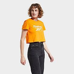 Women's Reebok Classics Big Logo Crop T-Shirt