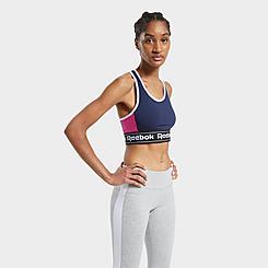 Women's Reebok Training Essentials Linear Logo Low-Impact Bralette Sports Bra
