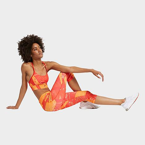 Reebok Women's Workout Ready Printed Capri Training Tights in Orange/Instinct Red Size Medium Size & FitTight, supportive fit High elastic waistband sits just right Product FeaturesStretchy fabric is smooth and absorbs moisture to keep you dry Bold graphic design for style Machine wash The Reebok Workout Ready Printed Capri Training Tights are imported. Level up your workout style in the bold, performance-ready Women's Reebok Workout Ready Printed Capri Training Tights. Size: Medium. Color: Orange. Gender: female. Age Group: adult. Pattern: Printed/Graphic. Reebok Women's Workout Ready Printed Capri Training Tights in Orange/Instinct Red Size Medium