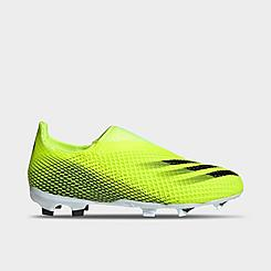 Big Kids' adidas X Ghosted.3 Laceless Firm Ground Soccer Cleats
