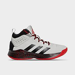 Little Kids' adidas Cross Em Up 5 Basketball Shoes - Wide