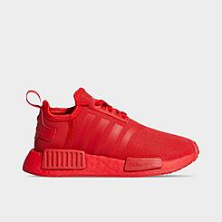 nmd adidas black and red shoes
