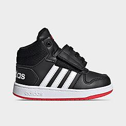 Boys' Toddler adidas Essentials Hoops 2.0 Mid Casual Shoes