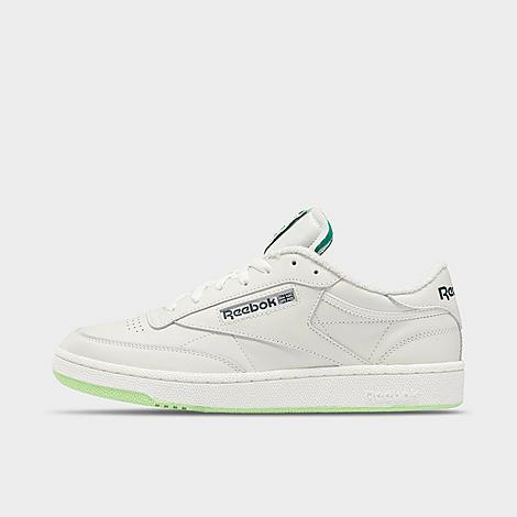 Reebok Club C 85 Sneakers In Chalk/neon Mint/forest Green