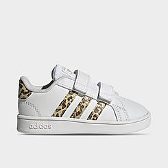 Girls' Toddler and Little Kids' adidas Essentials Grand Court Animal-Infill Casual Shoes