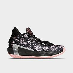 Big Kids' adidas Dame 7 Floral Print Basketball Shoes