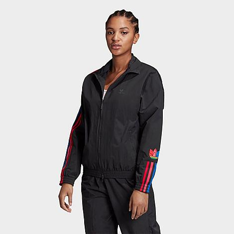 Adidas Originals Jackets ADIDAS WOMEN'S ORIGINALS ADICOLOR 3D TREFOIL TRACK JACKET