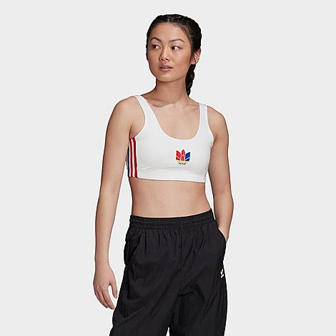 Adidas Originals ADIDAS WOMEN'S ORIGINALS ADICOLOR 3D TREFOIL BRA TOP