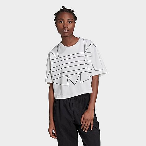 Adidas Originals ADIDAS WOMEN'S ORIGINALS LARGE TREFOIL OUTLINE LOGO T-SHIRT