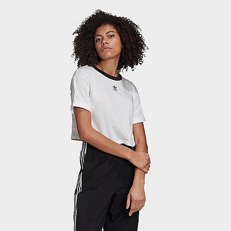 Adidas Originals ADIDAS WOMEN'S ORIGINALS CROP RINGER T-SHIRT