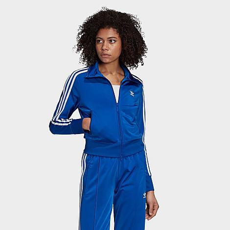 Adidas Women's Originals Firebird Track Jacket in Blue Size Large 100% Polyester thumbnail