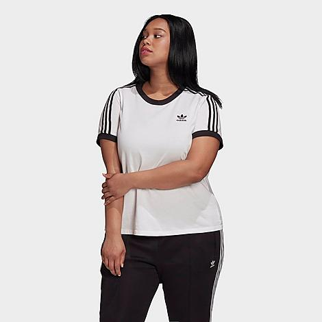 Adidas Originals ADIDAS WOMEN'S ORIGINALS 3-STRIPES T-SHIRT (PLUS SIZE)