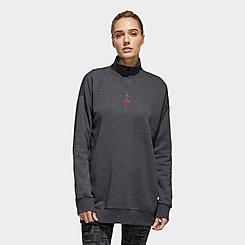 Women's adidas Essentials Comfort Elongated Quarter-Zip Sweatshirt