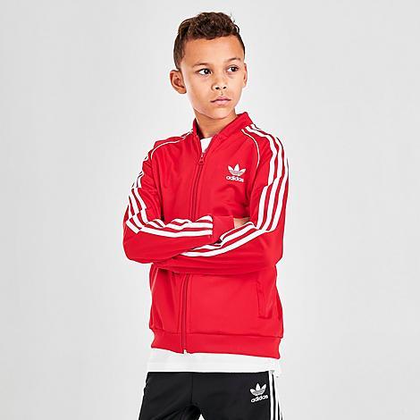 Adidas Originals ADIDAS KIDS' ORIGINALS TREFOIL TRACK JACKET SIZE X-LARGE POLYESTER