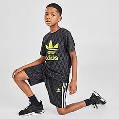 Boys' adidas Originals Allover Print Trefoil Shorts