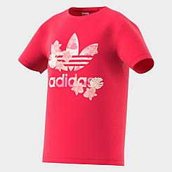 Girls' adidas Originals Allover Floral Print T-Shirt