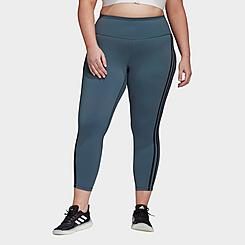 Women's adidas Believe This 3-Stripes Cropped Training Tights (Plus Size)
