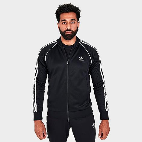 Adidas Originals Adidas Men's Classics Adicolor Primeblue Sst Track Jacket In Black/white