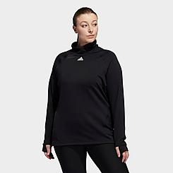 Women's adidas COLD.RDY Mock-Neck Long-Sleeve Training Shirt (Plus Size)