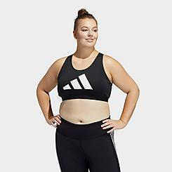 Women's adidas Don't Rest Badge Of Sport Medium-Support Sports Bra (Plus Size)