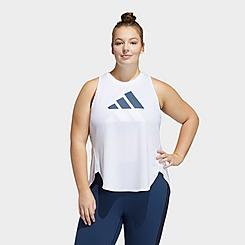 Women's adidas 3 Bar Logo Training Tank (Plus Size)
