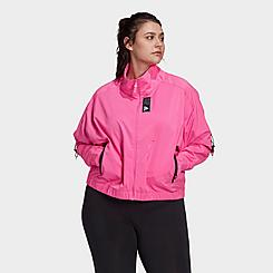 Women's adidas Primeblue Full-Zip Track Jacket (Plus Size)