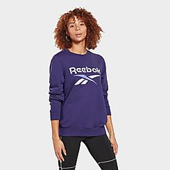 Women's Reebok Identity Logo French Terry Crewneck Sweatshirt