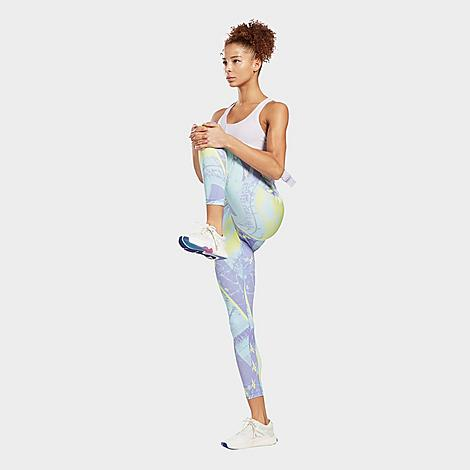 Reebok Women's Workout Ready Printed Cropped Leggings Size X-Large Size & FitTight, supportive fit High elastic waistband sits just right Product FeaturesStretchy fabric is smooth and absorbs moisture to keep you dry Allover Vector print for style Machine wash The Reebok Workout Ready Printed Training Tights are imported. Primed and ready for any workout, the Reebok Workout Ready Printed Leggings are your new go-to for everything from strength classes to brunch with your girls. Size: X-Large. Color: Purple/Multi Color. Gender: female. Age Group: adult. Reebok Women's Workout Ready Printed Cropped Leggings Size X-Large