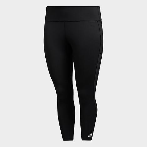 Adidas Originals Tights ADIDAS WOMEN'S ALPHASKIN HEAT. RDY CROPPED TRAINING TIGHTS (PLUS SIZE)
