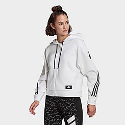 Women's adidas Sportswear Wrapped 3-Stripes Full-Zip Hoodie