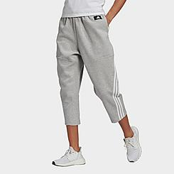 Women's adidas Sportswear Z.N.E. Wrapped 3-Stripes Cropped Pants