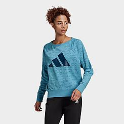 Women's adidas Sportswear Winners Badge of Sport Crewneck Sweatshirt