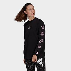 Women's adidas Palm Reader Graphic Long Sleeve T-Shirt