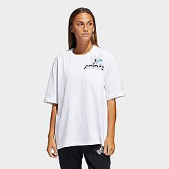 Women's adidas x Nini Sum Oversized Graphic Pocket T-Shirt