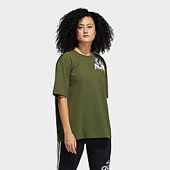 Women's adidas x Nini Sum Oversized Graphic Pocket T-Shirt