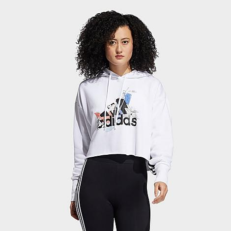 Adidas Originals ADIDAS WOMEN'S X NINI SUM ATHLETICS WASH PRINT HOODIE