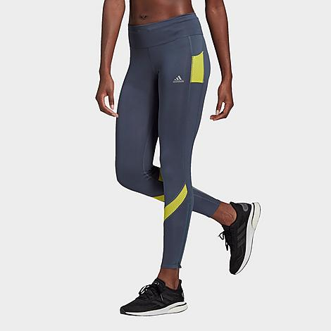 Adidas Women's Athletics Own The Run Training Tights in Blue/Legacy Blue Size Small Polyester/Knit Size & Fit Slim, figure-hugging fit with built-in compression for zero distractions and muscle support Mid-rise elastic waistband is slightly higher in the back for extra coverage Product Features Stretchy Climacool fabric wicks away moisture Sweat-guard pocket 55% recycled polyester, 28% polyester, 17% elastane doubleknit Machine wash The adidas Own The Run Tights are imported. Rack up the miles in styles in the performance-ready Women's adidas Own The Run Training Tights. Size: Small. Color: Blue. Gender: female. Age Group: adult. Material: Polyester/Knit. Adidas Women's Athletics Own The Run Training Tights in Blue/Legacy Blue Size Small Polyester/Knit