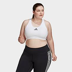 Women's adidas Don't Rest Alphaskin Padded Medium-Support Sports Bra (Plus Size)