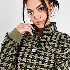 Women's adidas Originals R.Y.V. Plaid Quarter-Zip Sweatshirt
