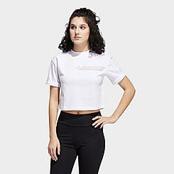 Women's adidas Originals Pride Linear Crop T-Shirt